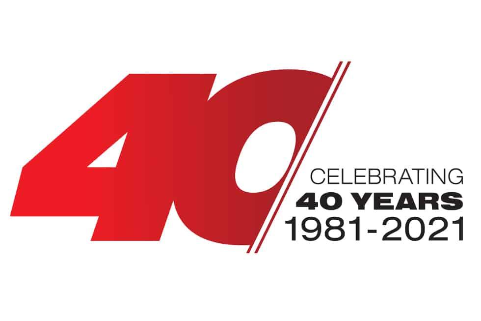 Trimax 40th Anniversary Logo